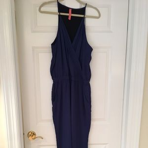 Women's royal blue fully lined jumpsuit